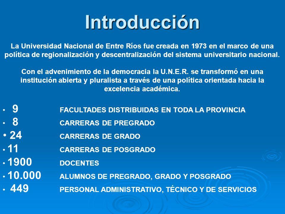 Introducción 24 CARRERAS DE GRADO