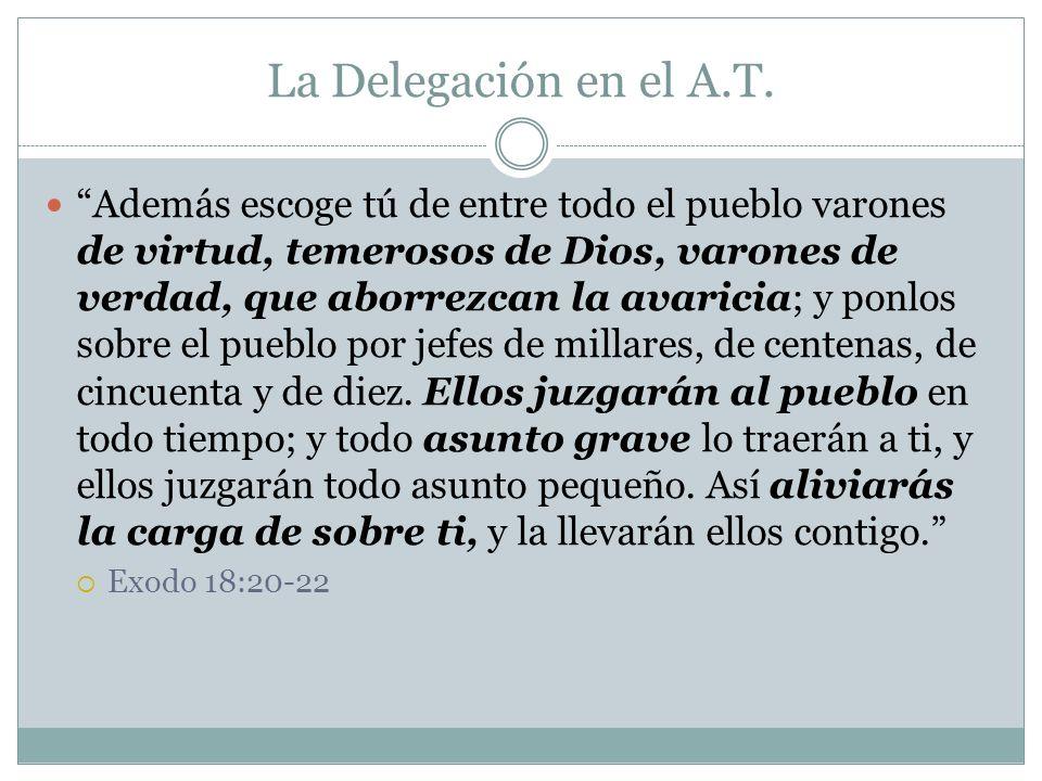 La Delegación en el A.T.