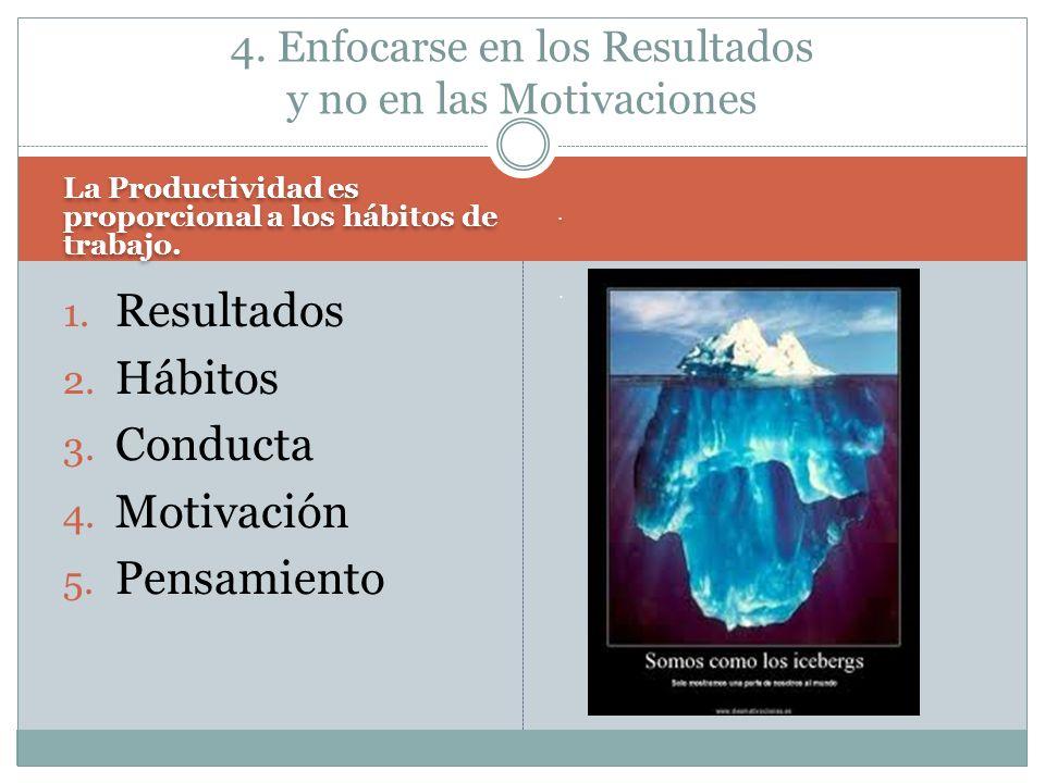 4. Enfocarse en los Resultados y no en las Motivaciones