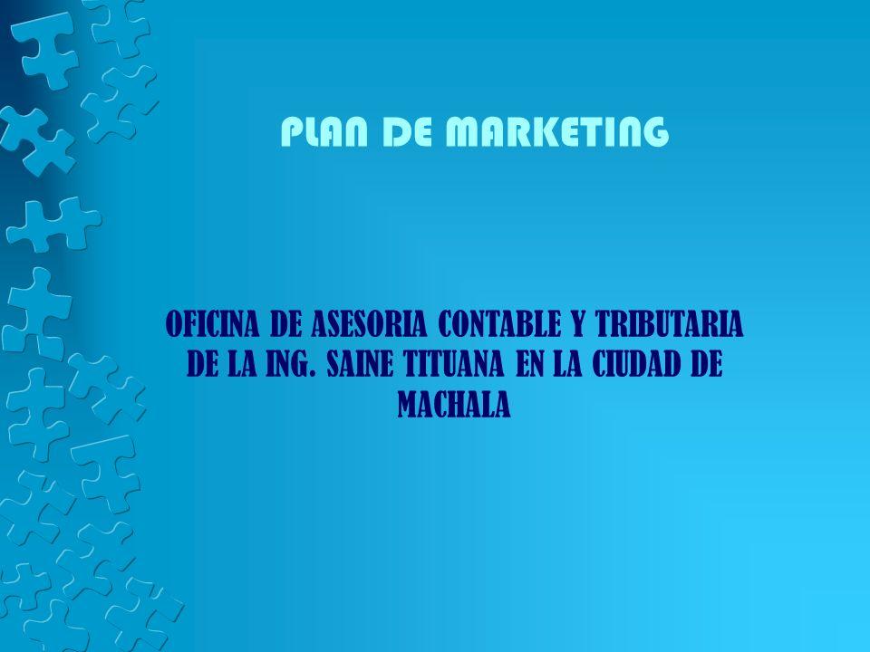 PLAN DE MARKETING OFICINA DE ASESORIA CONTABLE Y TRIBUTARIA