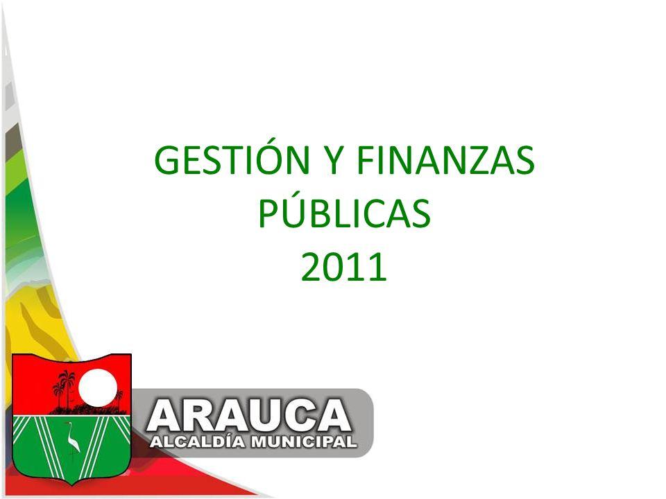 GESTIÓN Y FINANZAS PÚBLICAS 2011