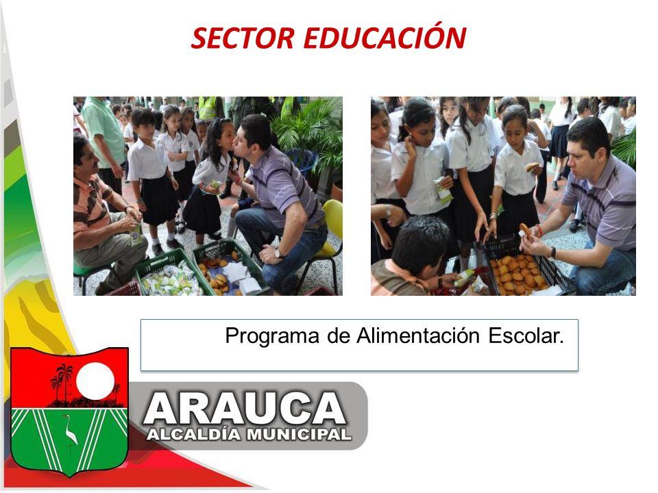 SECTOR EDUCACIÓN Programa dPrograma de Alimentación Escolar.