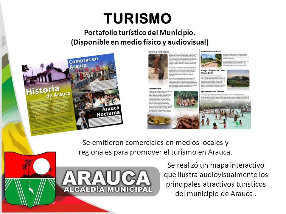 TURISMO Portafolio turístico del Municipio.