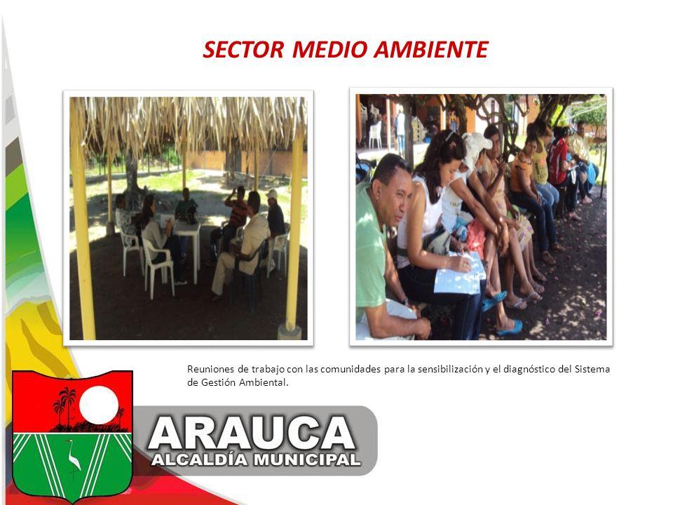 SECTOR MEDIO AMBIENTE Reuniones de trabajo con las comunidades para la sensibilización y el diagnóstico del Sistema de Gestión Ambiental.