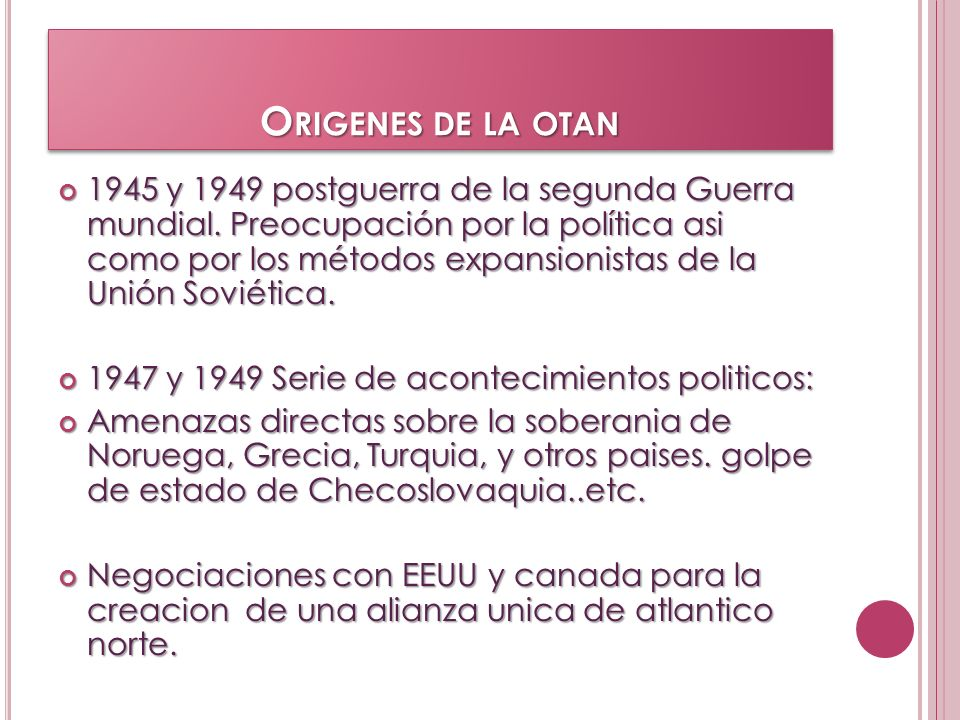 Origenes de la otan