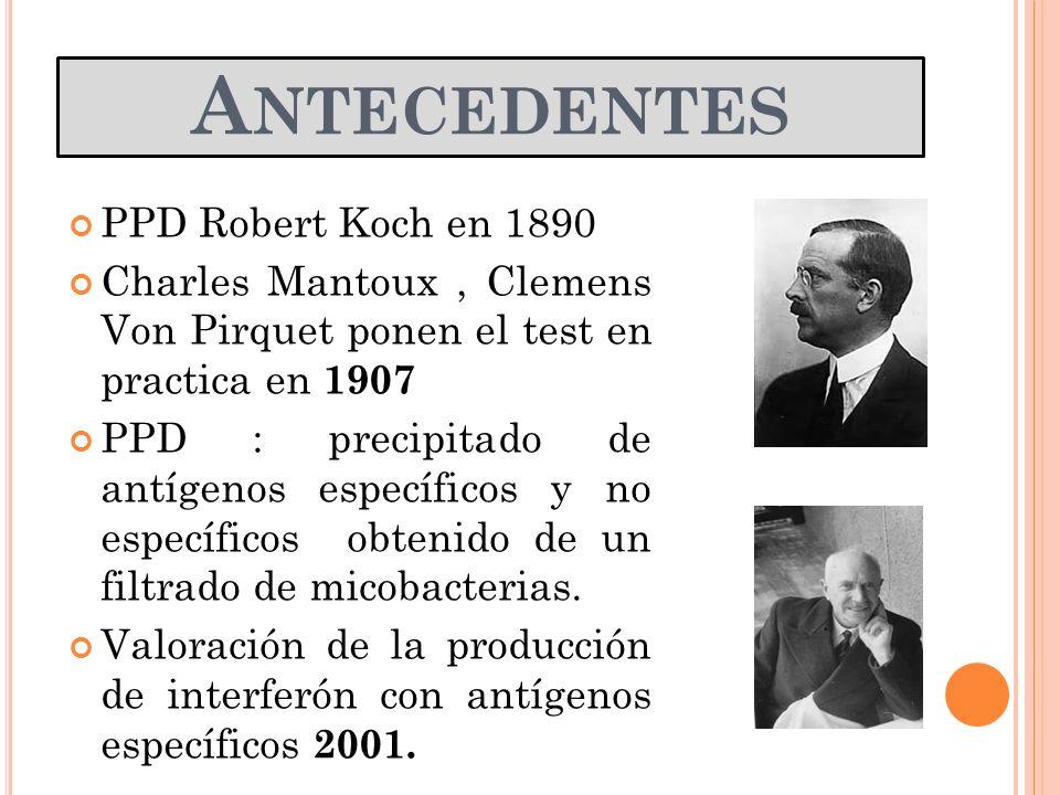 Antecedentes PPD Robert Koch en 1890