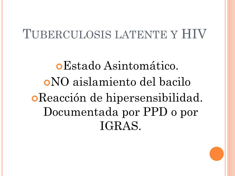 Tuberculosis latente y HIV