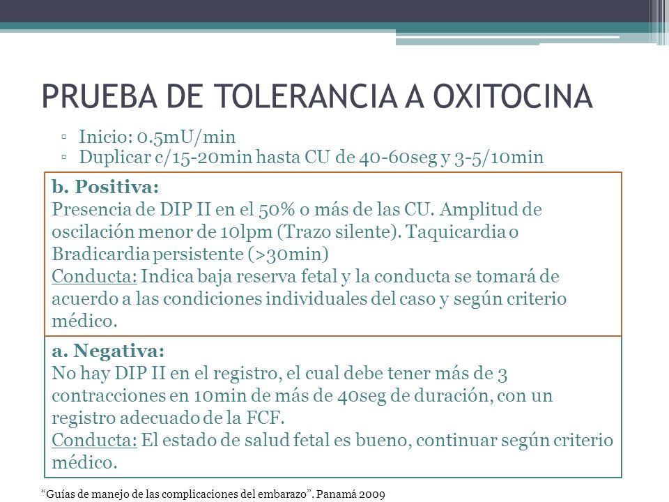 PRUEBA DE TOLERANCIA A OXITOCINA