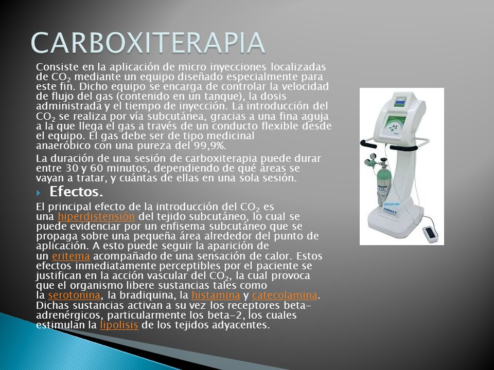 CARBOXITERAPIA Efectos.