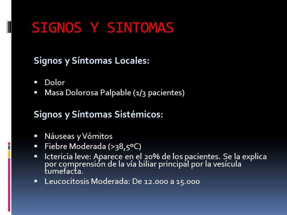 SIGNOS Y SINTOMAS Signos y Síntomas Locales: