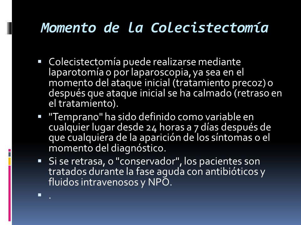 Momento de la Colecistectomía