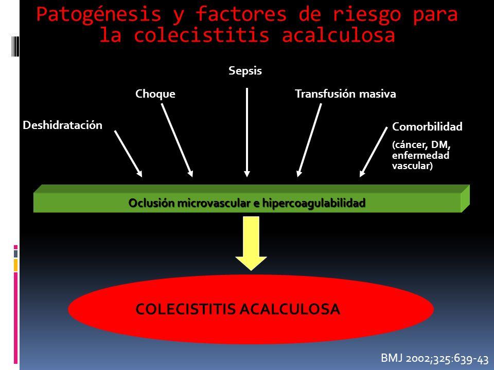Patogénesis y factores de riesgo para la colecistitis acalculosa