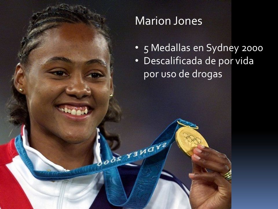 Marion Jones 5 Medallas en Sydney 2000