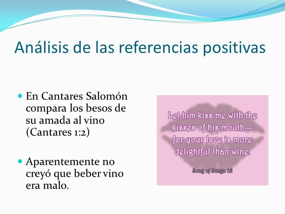 Análisis de las referencias positivas