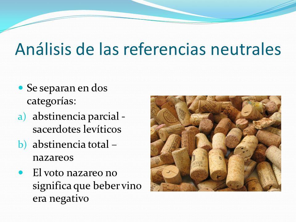 Análisis de las referencias neutrales