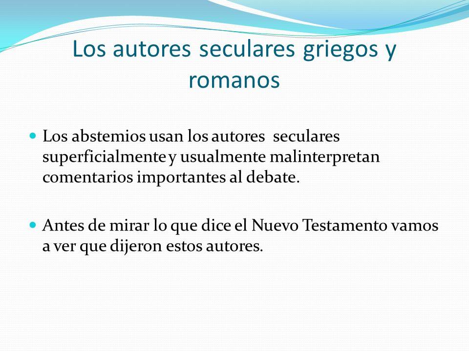 Los autores seculares griegos y romanos