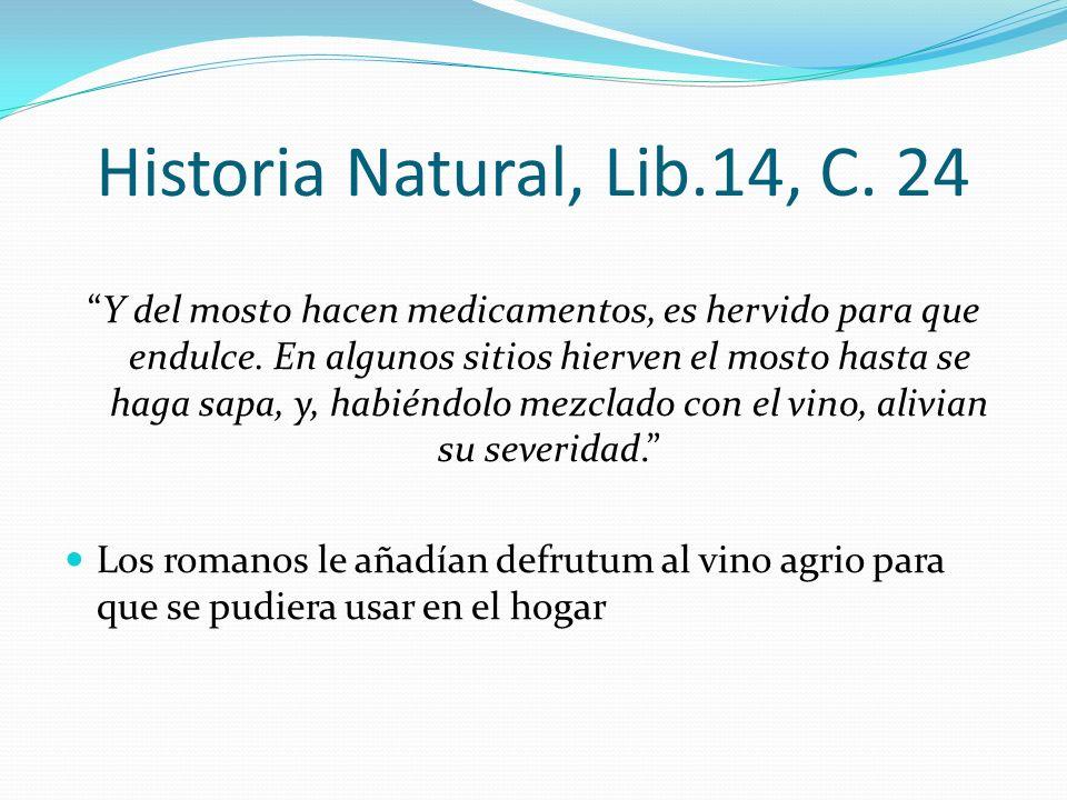 Historia Natural, Lib.14, C. 24
