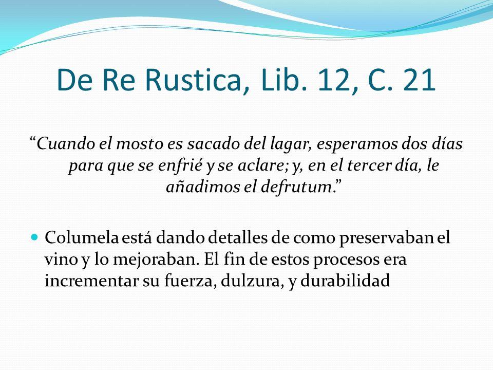 De Re Rustica, Lib. 12, C. 21