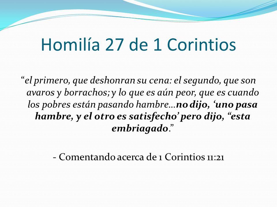 Homilía 27 de 1 Corintios