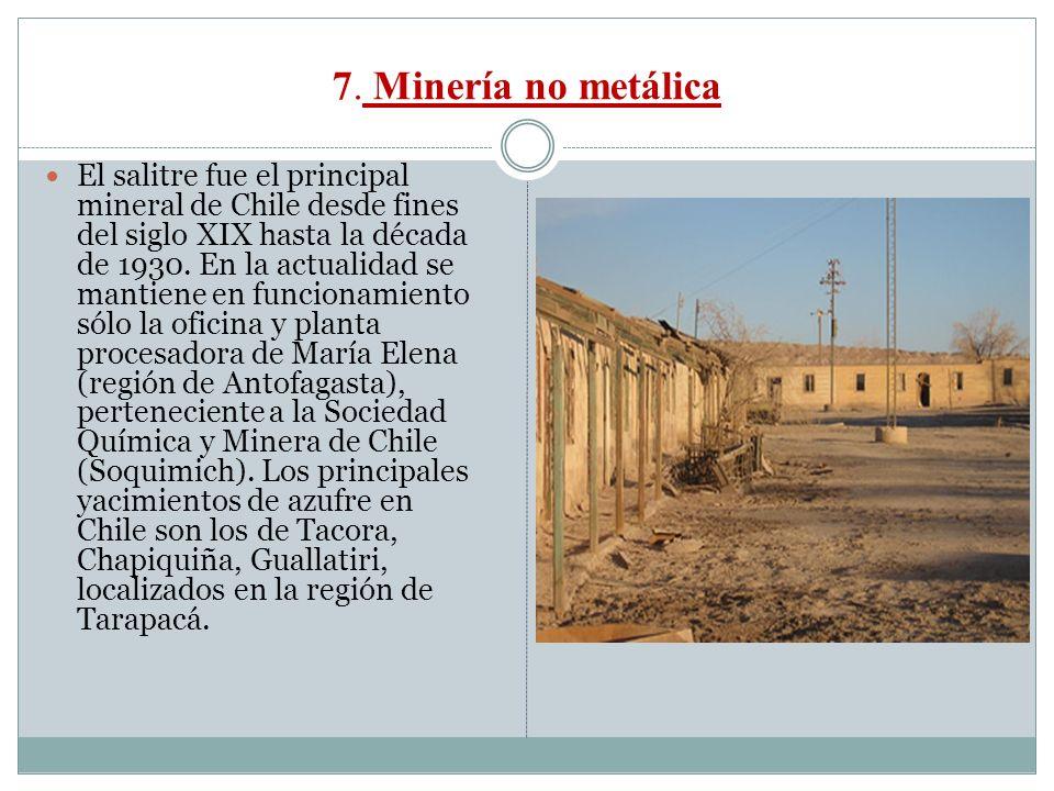 7. Minería no metálica