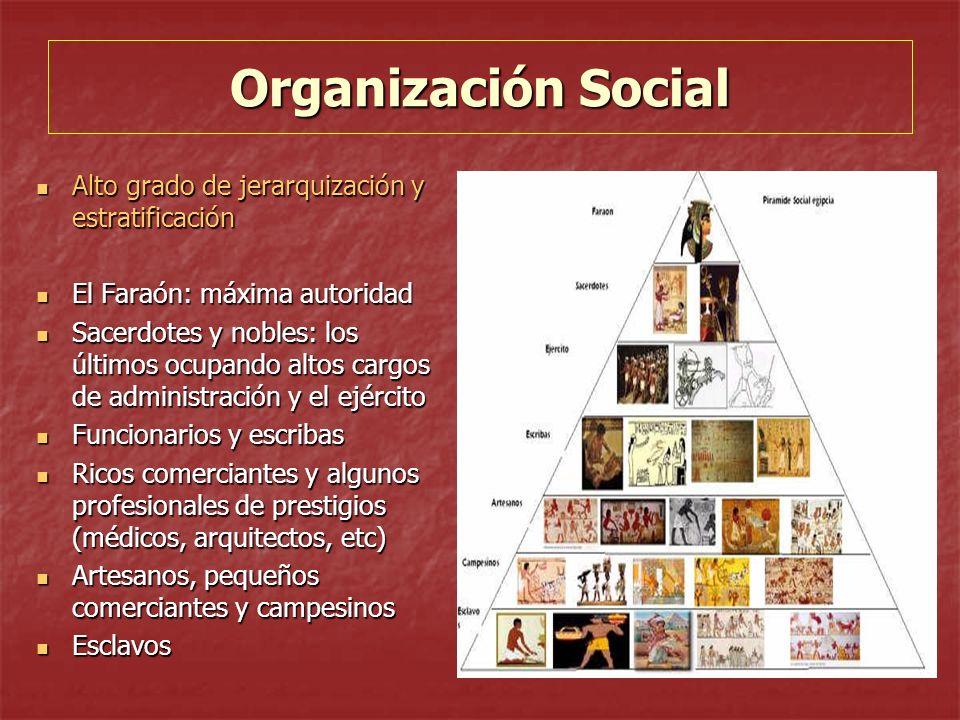Organización Social Alto grado de jerarquización y estratificación