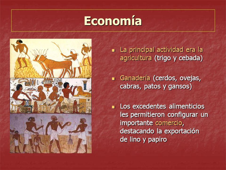 Economía La principal actividad era la agricultura (trigo y cebada)