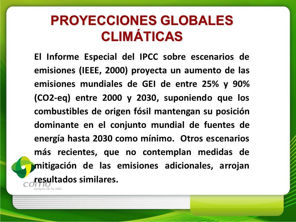 PROYECCIONES GLOBALES CLIMÁTICAS