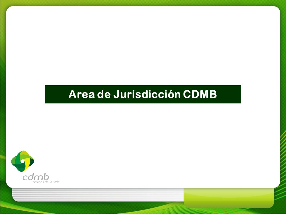Area de Jurisdicción CDMB