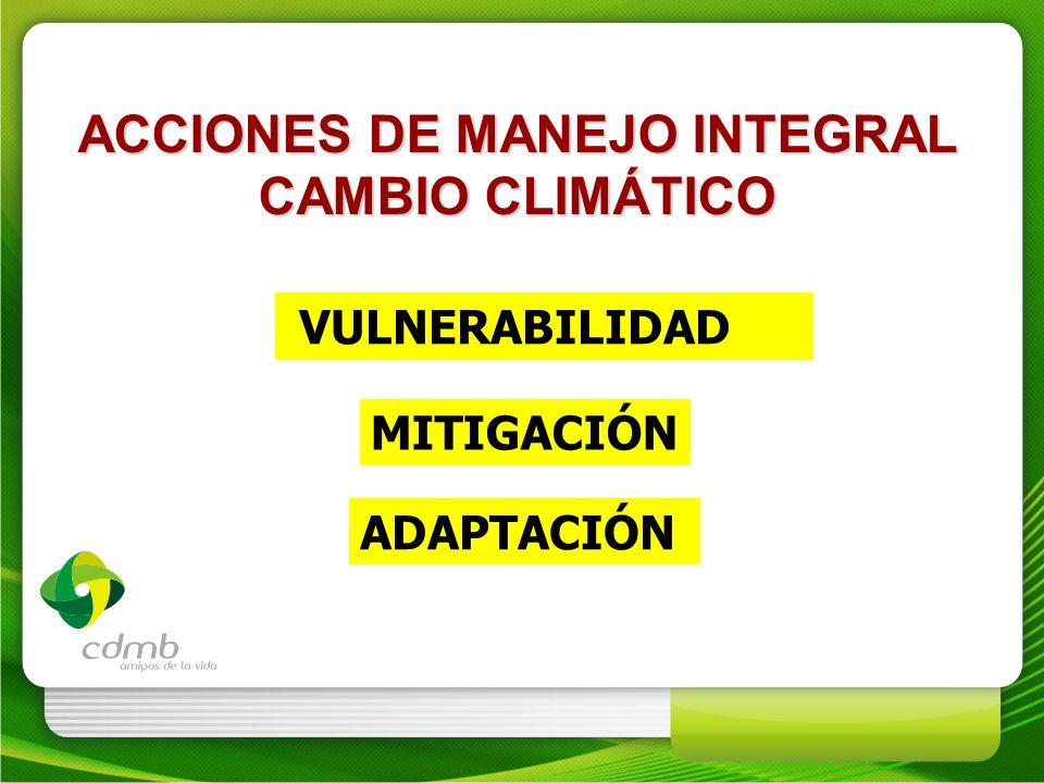 ACCIONES DE MANEJO INTEGRAL