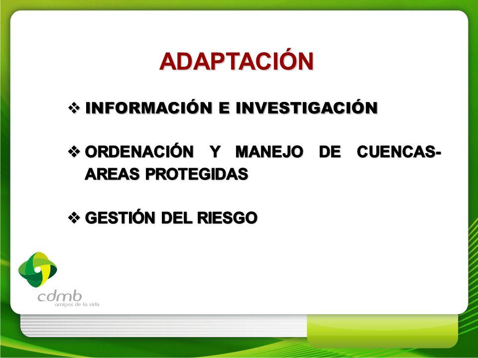 ADAPTACIÓN Información e investigación