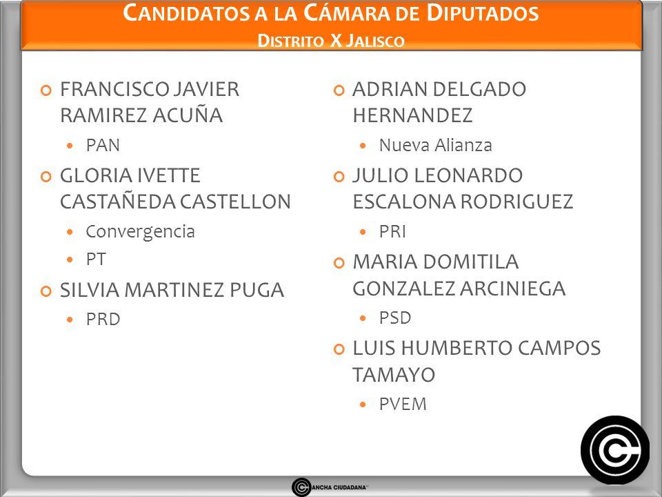 Candidatos a la Cámara de Diputados Distrito X Jalisco