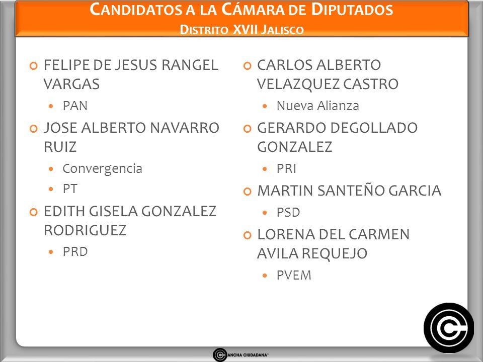 Candidatos a la Cámara de Diputados Distrito XVII Jalisco
