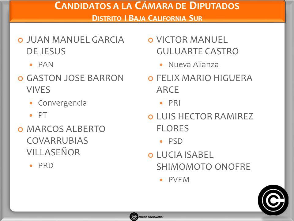 Candidatos a la Cámara de Diputados Distrito I Baja California Sur