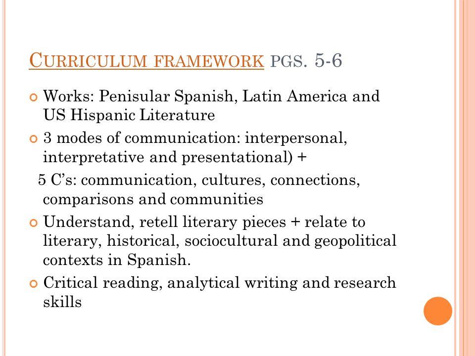 Curriculum framework pgs. 5-6