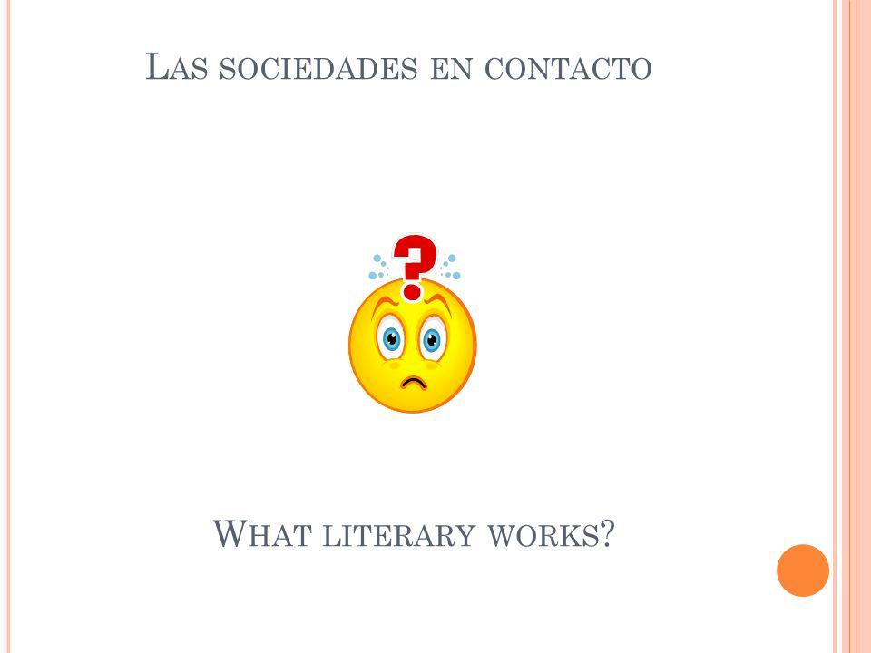 Las sociedades en contacto