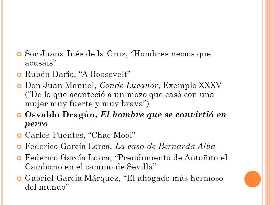Sor Juana Inés de la Cruz, Hombres necios que acusáis