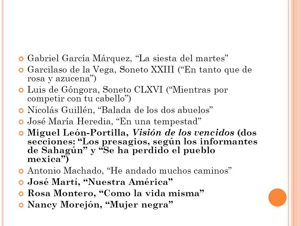 Gabriel García Márquez, La siesta del martes
