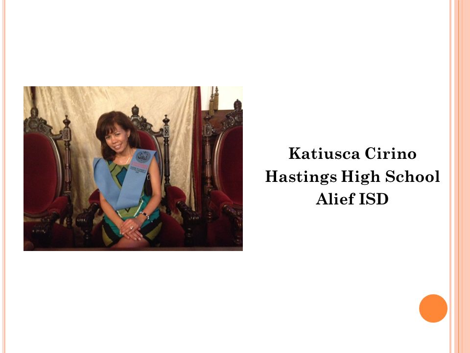 Katiusca Cirino Hastings High School Alief ISD