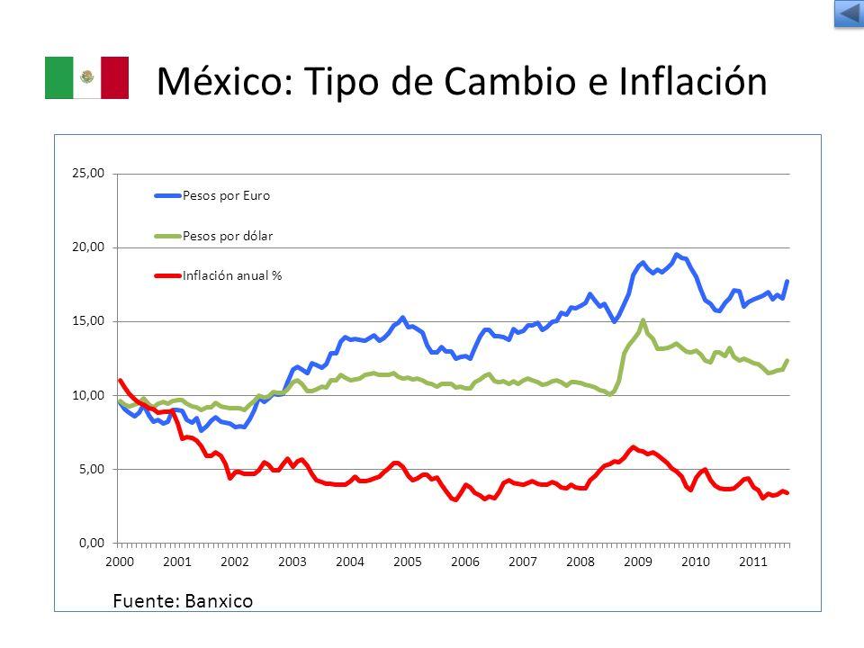 México: Tipo de Cambio e Inflación