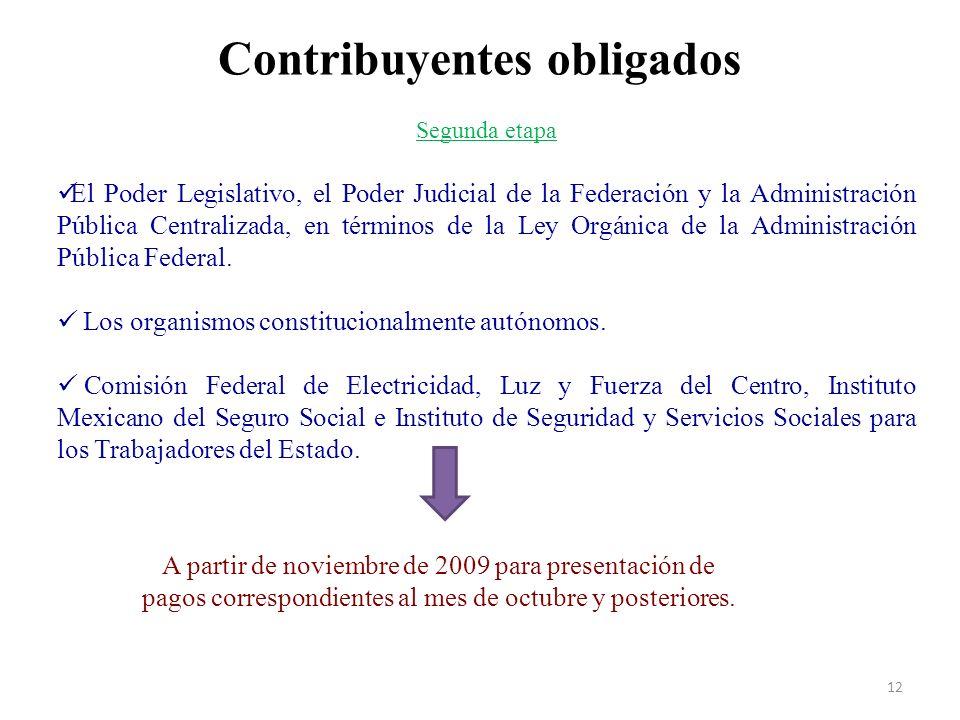 Contribuyentes obligados