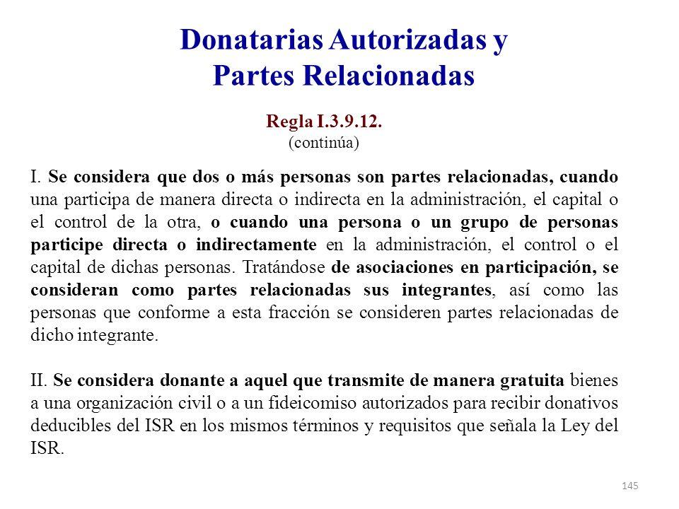 Donatarias Autorizadas y