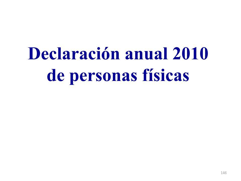 Declaración anual 2010 de personas físicas