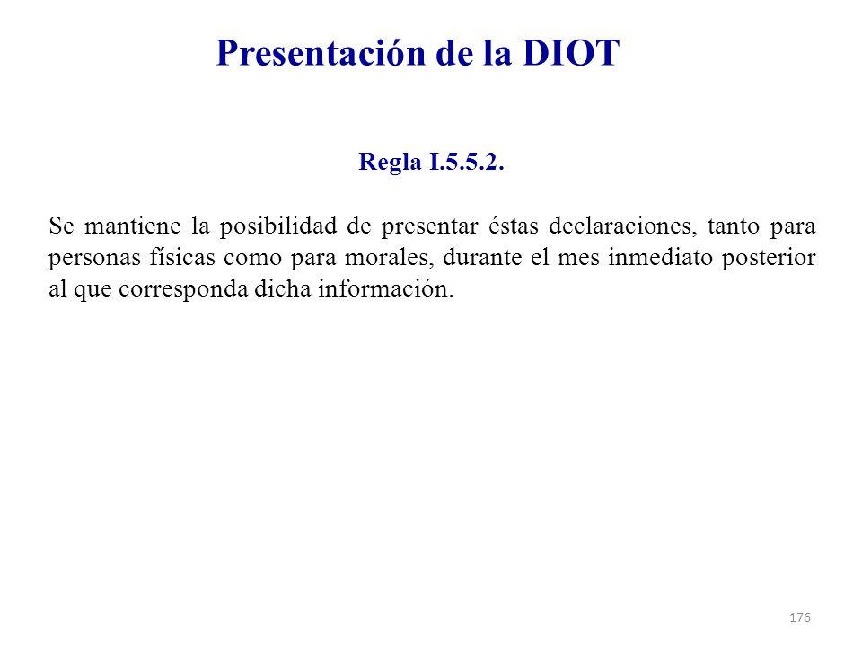 Presentación de la DIOT