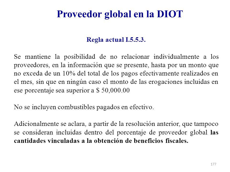 Proveedor global en la DIOT