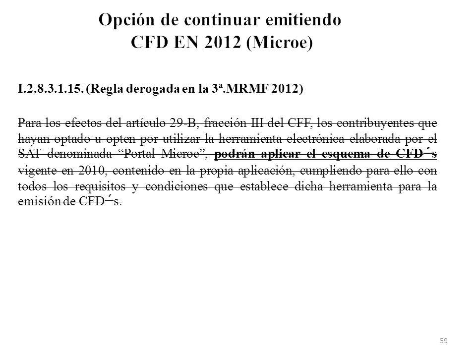 Opción de continuar emitiendo CFD EN 2012 (Microe)