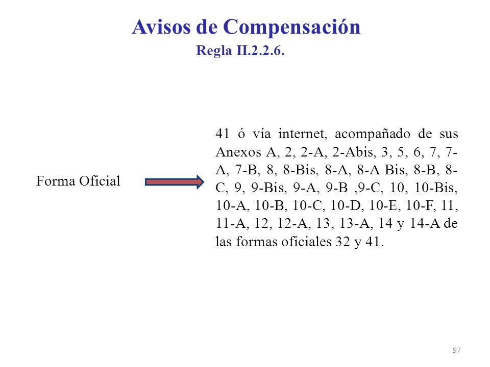Avisos de Compensación