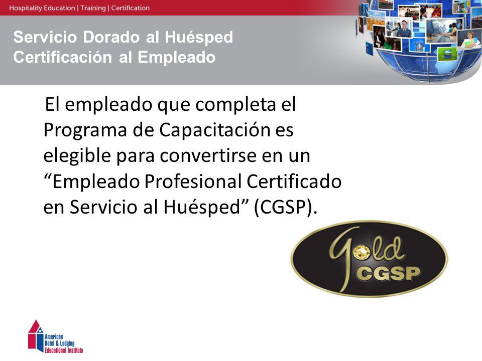 Servicio Dorado al Huésped Certificación al Empleado