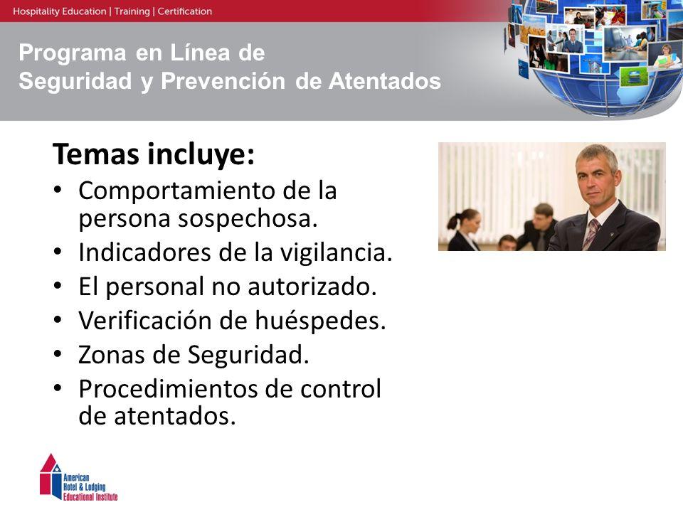 Programa en Línea de Seguridad y Prevención de Atentados