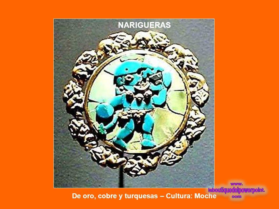 NARIGUERAS De oro, cobre y turquesas – Cultura: Moche