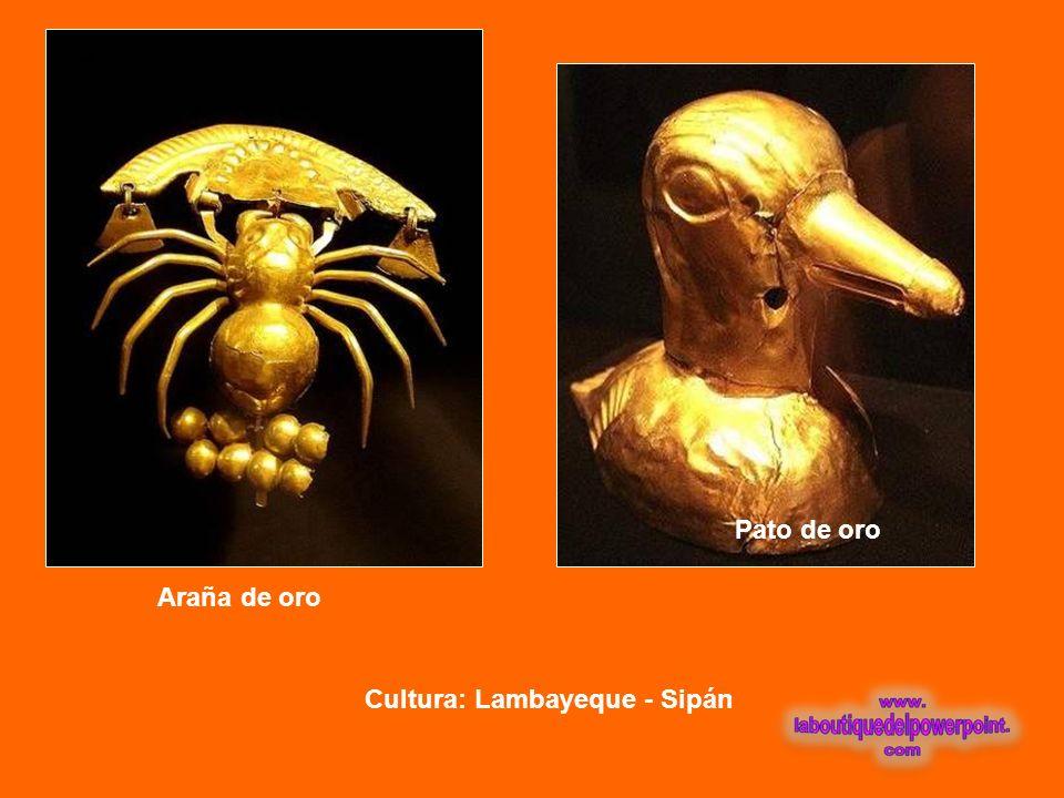 Pato de oro Araña de oro Cultura: Lambayeque - Sipán